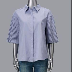 Simply Vera vera Wang pleat sleeve shirt